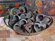 Antique Tin  Cookie Cutters Collection of by AmericanaAntiques