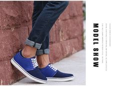 New 6 CM High Heel Fashion Men Shoes Luxury Brand Casual Sapatos Size 35 36 37 38 to 44 Dark Blue Gray Red Yellow Brown