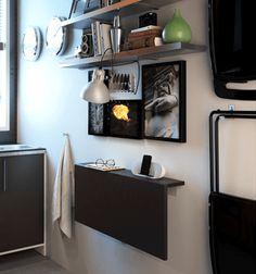 Ideas para cocinas pequeñas: mesa abatible Norbo de Ikea   Decorar tu casa es facilisimo.com
