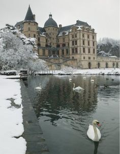 Chateau de Vizille - Vizille, Isere, French-Alps - in the snow
