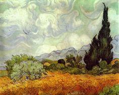 Trigal com Ciprestes, Van Gogh