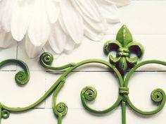 Fleur De Lis Decor / Metal Wall Hanger / Wall Hook by WillowsGrace, $27.00