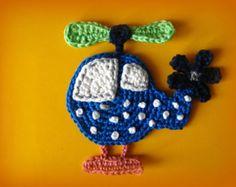 Manzana con gusano ganchillo apliques patrón por CrochAnna en Etsy