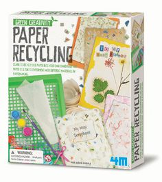Encourage kids to craft handmade #holiday cards - from homemade paper!  http://www.gardeningwithkids.org/paper-making-kit.html