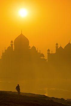 "tect0nic: "" Golden sun over Taj by Yaman Ibrahim via 500px. """