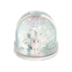 TROUSSELIER Photo Snow Globe ($13) ❤ liked on Polyvore featuring home, home decor, holiday decorations, snowglobe, photo water globe, angel snow globe, photo snow globe, rabbit home decor and bunny snow globe