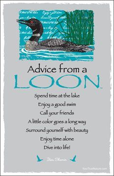 A Loon tells how to stay afloat in rough waters...