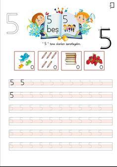 5 Rakamı Çalışma Sayfası Color Worksheets For Preschool, Turkish Language, Math For Kids, Teaching Kindergarten, Alphabet, Bullet Journal, Education, Handmade, Fine Motor