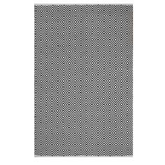 228.99 Cotton  Indo Hand-woven Veria Black/ White Geometric Flat-weave Area Rug (8' x 10') - Overstock™ Shopping - Great Deals on 7x9 - 10x14 Rugs