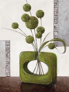 Arrangement in Green II Canvas | Wayfair UK