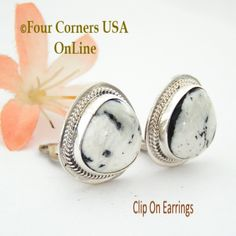 Four Corners USA Online - White Buffalo Turquoise Sterling Clip On Earrings Navajo Artisan Lucy Valencia Jewelry NAER-1464, $172.00 (http://stores.fourcornersusaonline.com/white-buffalo-turquoise-sterling-clip-on-earrings-navajo-artisan-lucy-valencia-jewelry-naer-1464/)
