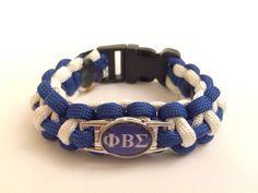 Phi Beta Sigma fraternity paracord bracelet.