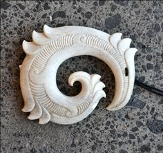 Owen Mapp Kura Gallery Maori Art Design New Zealand Aotearoa Bone Carving Whalebone Matau Koru