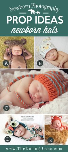Adorable Newborn Photography Prop Ideas using Hats