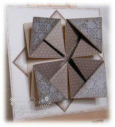 napkin fold card tutorial en cm