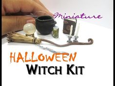 Halloween Witch Items Polymer Clay Resin Dollhouse Miniature How To  DIY Tutorial - YouTube