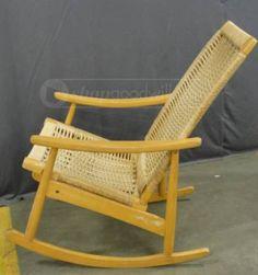 Hand Woven Rocking Chair Made in Yugoslavia