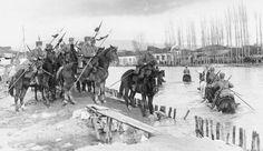 A patrol of German Hussars crossing a river near the Lake Ohrid on the Macedonian-Albanian border, Wilhelm Ii, Kaiser Wilhelm, World War One, First World, Military Photos, Macedonia, Wwi, Troops, German