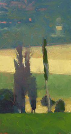 ☼ Painterly Landscape Escape ☼ landscape painting by Frank Hobbs