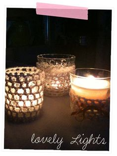 Anleitung für eingehäkelte Teelichtgläser- Spätsommer-Zauber