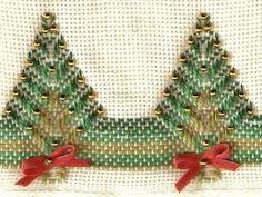 Resultado de imagen de sino de natal bordado em pontos livres