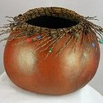 """*Gourd Art - """"King Palm Fronds"""" by Grace Swanson"""