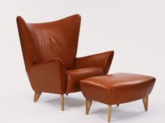 Matador chair & footstool in brown leather, designed by Terence Conran, Content by Coran Collection. Terence Conran, British Home, Mid-century Modern, Contemporary, Brown Furniture, Live In The Now, Chair And Ottoman, Table And Chairs, Cool Designs