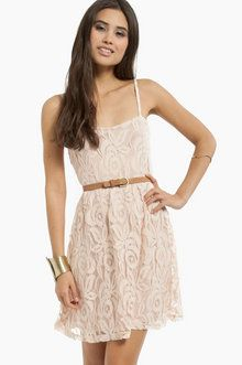 Come My Lacey Babydoll Dress in Blush