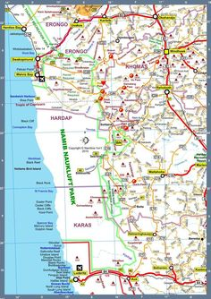 Map of Namibia Tour Route 7 Bull Riding, Cape Town, Family Travel, Safari, Tours, Island, Road Trips, Places, Colonial