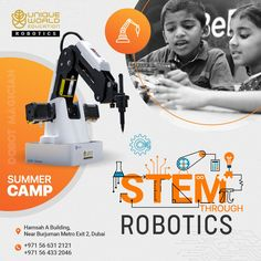 Provide STEM (Science, Technology, Engineering, and Mathematics) education for the kids to equip them with all set of technical skills.  Ring us on +971 56 631 2121.  #robotics #howtomakearobot #tech #automation #innovation #machinelearning #design #manufacturing #roboticeducation #deeplearning #uniquerobotics #befutureready
