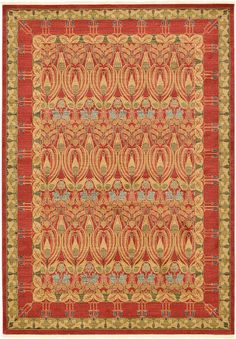 Red Allover Sultanabad Area Rug