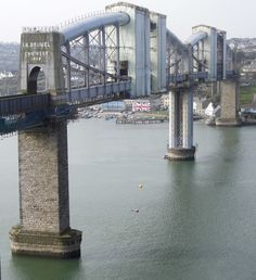 Royal Albert Bridge. A photograph showing the repainting of this famous Brunel bridge that links Devon with Cornwall. Read the updated story - http://patrickbaty.co.uk/2010/04/27/a-brunel-bridge-part-two/