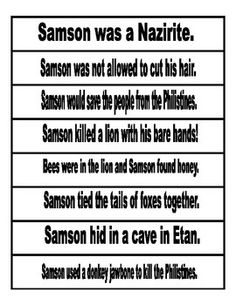 Fact Chains for Samson in the Old Testament