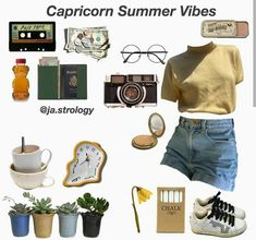 The next home decor ideas will be going to be the ones you'll be wanting and needing this Summer home decor trends! Retro Outfits, Trendy Outfits, Summer Outfits, Cute Outfits, Aesthetic Fashion, Aesthetic Clothes, Aesthetic Vintage, Zodiac Clothes, Capricorn Aesthetic