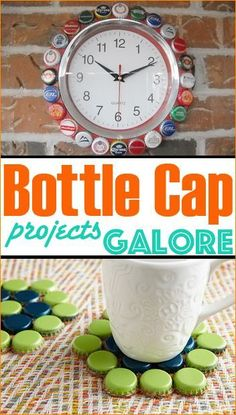 Bottle Cap Projects. Add spunk and character to any space inside and outside the home with these inspiring ideas.