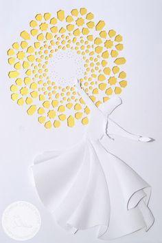 DERVISCI ROTANTE: Handmade papercut 3D by La Civetta Chiacchierina