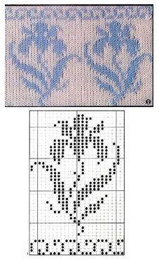 Knitting Charts, Loom Knitting, Knitting Patterns, Crochet Cross, Crochet Chart, Craft Patterns, Stitch Patterns, Art Nouveau Pattern, Cross Stitch Freebies