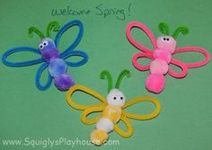 Kids Craft Idea ~ Pretty Butterflies! Simple art for little hands!