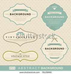 Stylish Vintage Floral Background, Retro Flowers Stock Vector 92715805 : Shutterstock