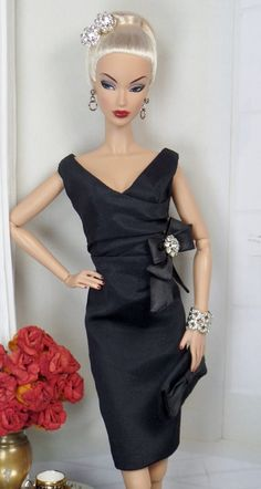 Classic Little Black Dress for Silkstone Barbie and Victoire Roux OOAK Doll Fashion