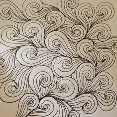 A Few Scraps: FMQ weekly: Windswept quilting design