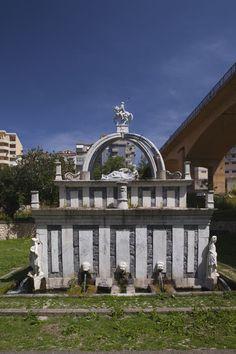 Medieval fountain in Fontana di Rosello, Sassari, Sardinia, Italy