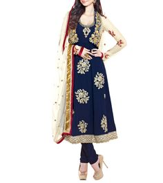 Blue #Georgette & Net #AnarkaliSuit #Indianroots