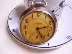 Ingraham Viceroy Pocket Watch Running  Vintage by LessieBlue, $89.99