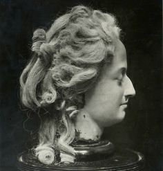 Marie Antoinette wax head. This was done by  Madam Taussaud and it was the start of her famous Wax Museum.