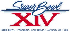 Super Bowl Primary Logo (1979) - Pittsburgh 31, L.A. Rams 19