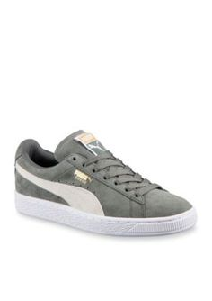 bf12d24f26895 PUMA Green Womens Classic Suede Sneakers Puma Sneakers Suede