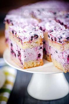 # yogurt # blueberry # cake # foam # yogurt cake with blueberry foam przepisy Polish Desserts, Polish Recipes, Mini Desserts, Cookie Desserts, Cookie Recipes, Dessert Recipes, Yummy Treats, Delicious Desserts, Sweet Treats
