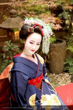 店内坪庭にて #maiko #kyoto