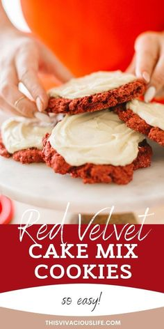 These ooey gooey red velvet cake mix cookies are both moist, soft and absolutely delicious. They are so simple to make and go perfect at our mom n' me Galentines Day party! Best Gluten Free Desserts, Gluten Free Scones, Gluten Free Pastry, Gluten Free Cinnamon Rolls, Gluten Free Pie, Gluten Free Cookies, Paleo Donut, Healthy Donuts, Paleo Baking